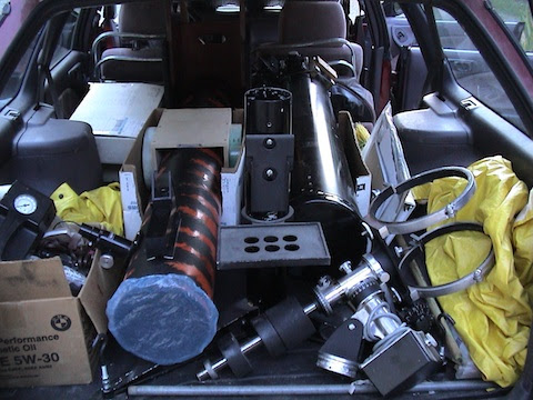 car packed for astroimaging