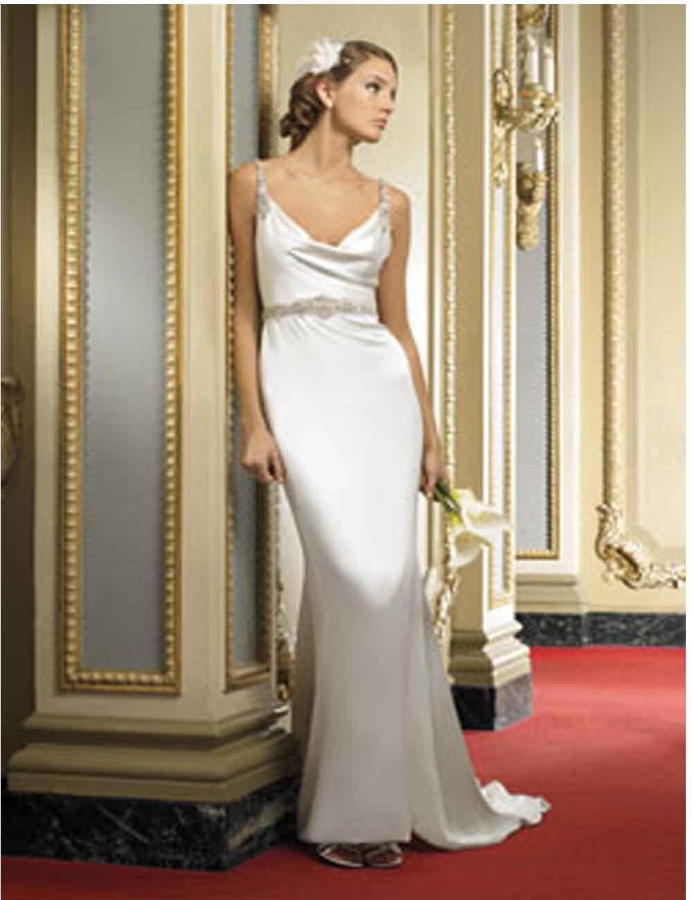 sheath mermaid wedding dresses