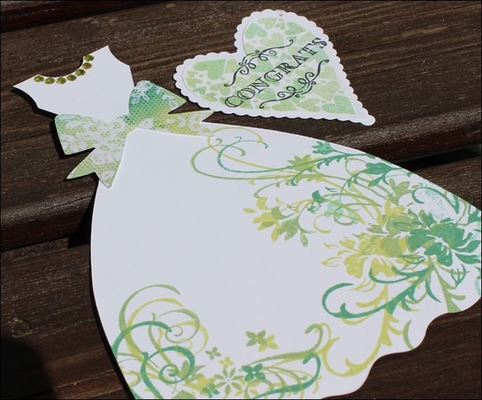 Hochzeitskarte hellgrün Spitze Tüll 03