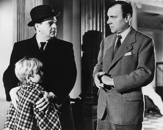 Walter Fitzgerald, Bobby Henrey, Ralph Richardson in The Fallen Idol