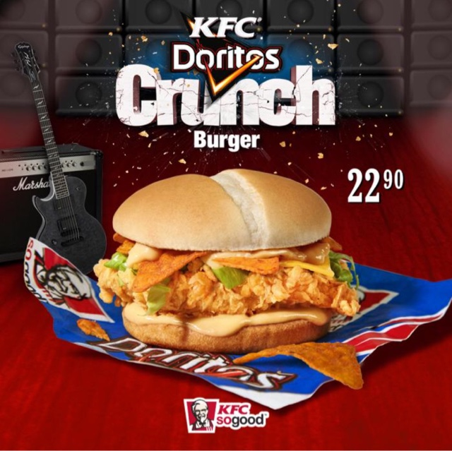 KFC Doritos Crunch Burger