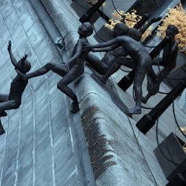 Jump by Yohanes Arief Dewanto - Buildings & Architecture Statues & Monuments ( ir, statue, infrared, statues, architecture, jump )