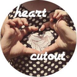Heart cutout DIY