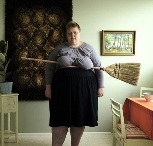 Женщина с  метлой