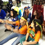 Scouts en el concurso de disfraces