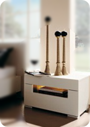image Narrow Bedside Table with