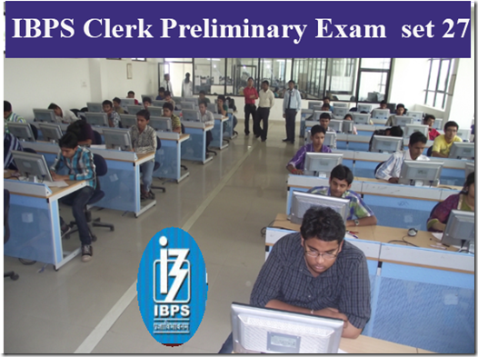 IBPS Clerk Preliminary Question paper PDF Set27
