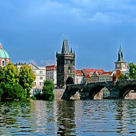 Prag Charles Bridge by Renos Hadjikyriacou - City,  Street & Park  Historic Districts