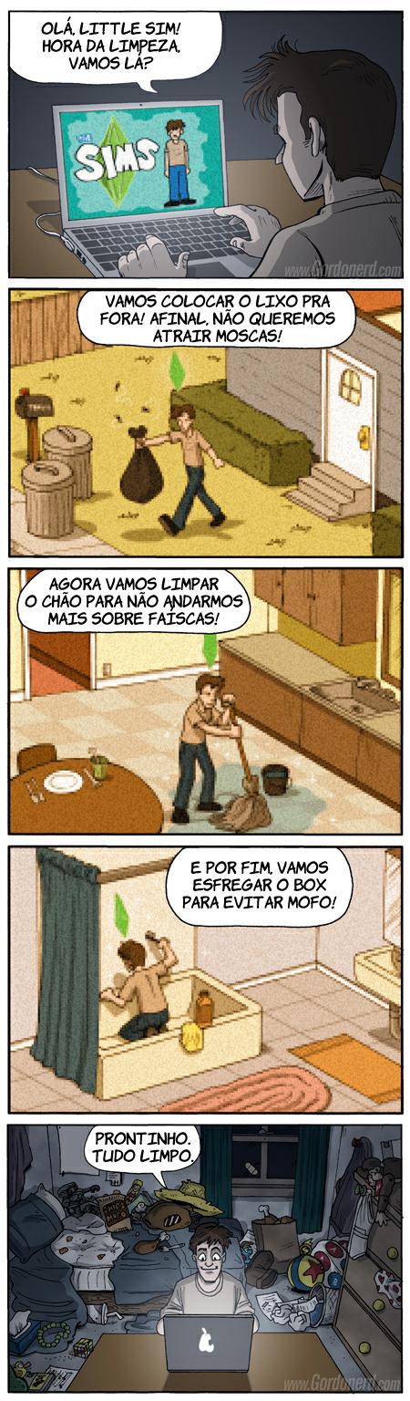 thesims Limpeza virtual