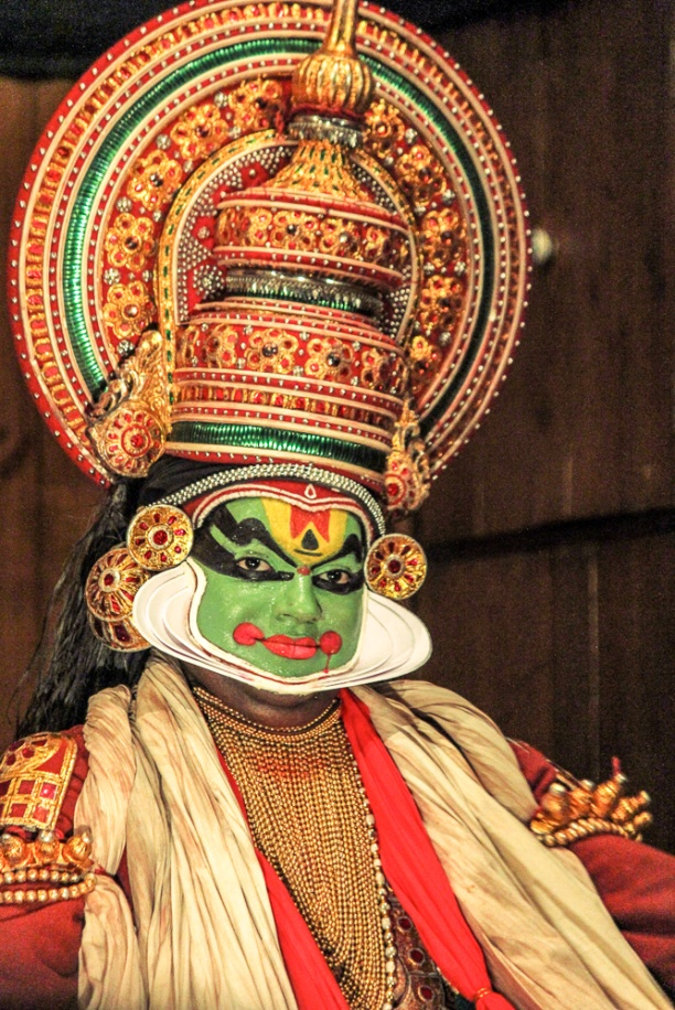Kathakali dancer in full colors