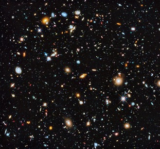 Vista colorida do universo a partir do Hubble [Hubble ESA no Flickr]