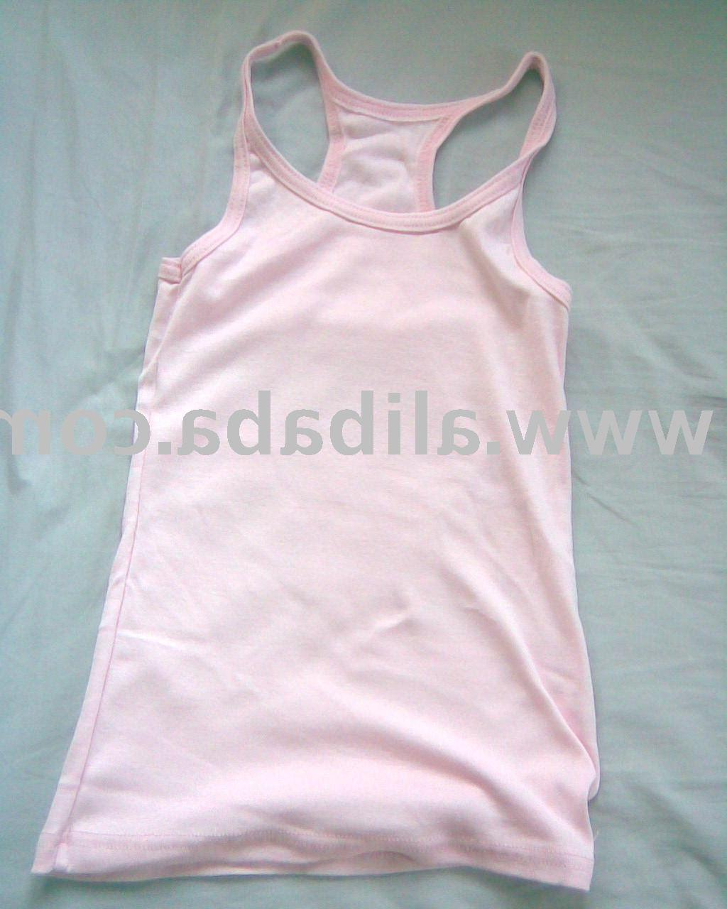 Pink plain racer back