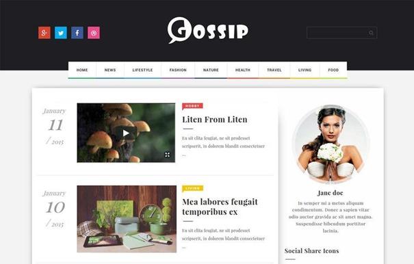 gossip-creative-template