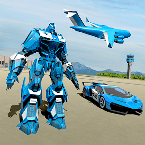 US Police Robot Car Game – Police Plane Transport 1.0.9