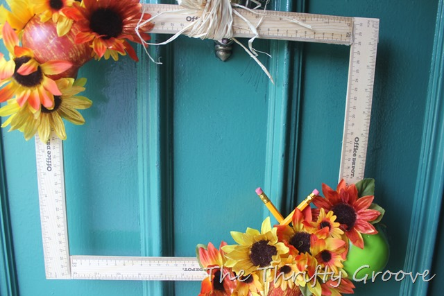 How to make a fun easy and thrifty september themed wreath.