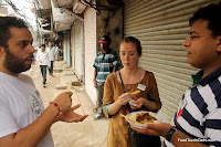 Chaat in Old Delhi http://indiafoodtour.com  http://foodtourindelhi.com