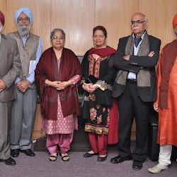 Dr Amrik Singh Chattha, Prof Gurinder Singh Mann, Mrs Gursharan Kaur, Dr Jaswinder Kaur, Prof B N Goswamy and Roopinder Singh