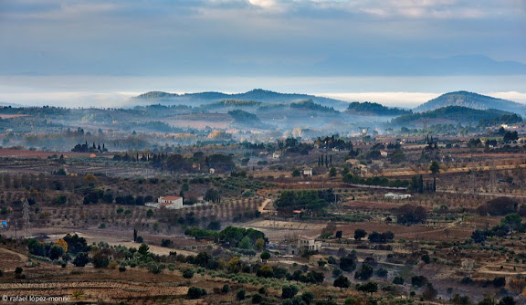 Vista del Priorat des dels voltants de Falset. Falset, Priorat, Tarragona