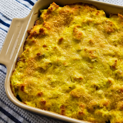 Better-than-Mom's Chicken, Broccoli, and Quinoa Casserole with Creamy Curry Sauce found on KalynsKitchen.com.