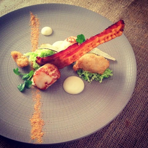 Hand Dived West Coast Scallops Lamb Sweetbreads, Savoy Cabbage, Pancetta