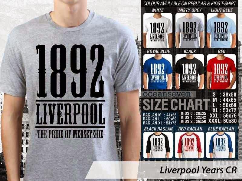 KAOS Liverpool 28 Liga Premier Inggris distro ocean seven