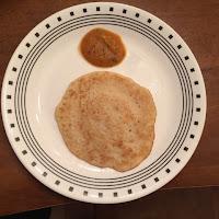 vendhaya dosai with Zucchini chutney