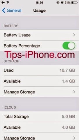 Cara Mengaktifkan/Menon-Aktifkan Persent Battery iPhone