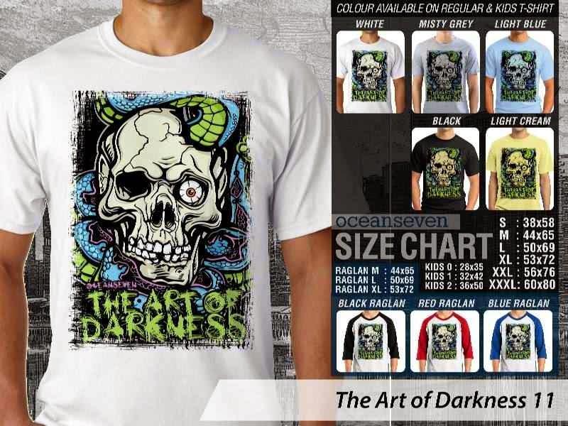 KAOS keren skull tengkorak The Art of Darkness 11 distro ocean seven
