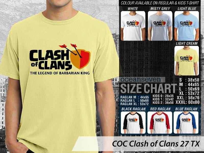 Kaos COC Clash of Clans 27 distro ocean seven