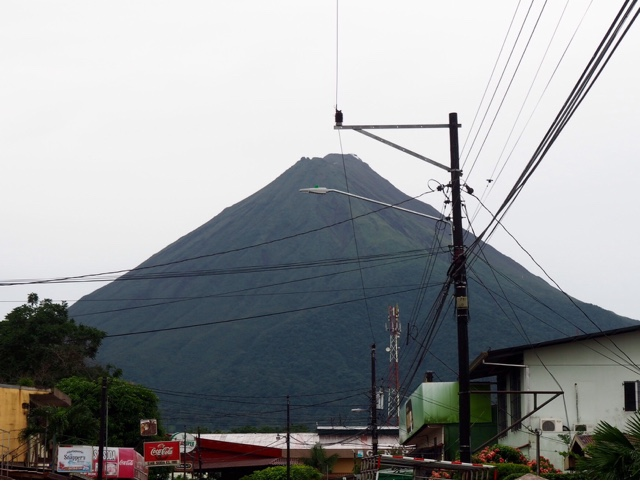 Arenal volcano from La Fortuna, Costa Rica