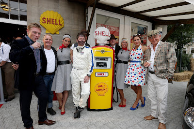 команда Sky Sports F1 на мероприятии Shell перед Гран-при Бельгии 2013