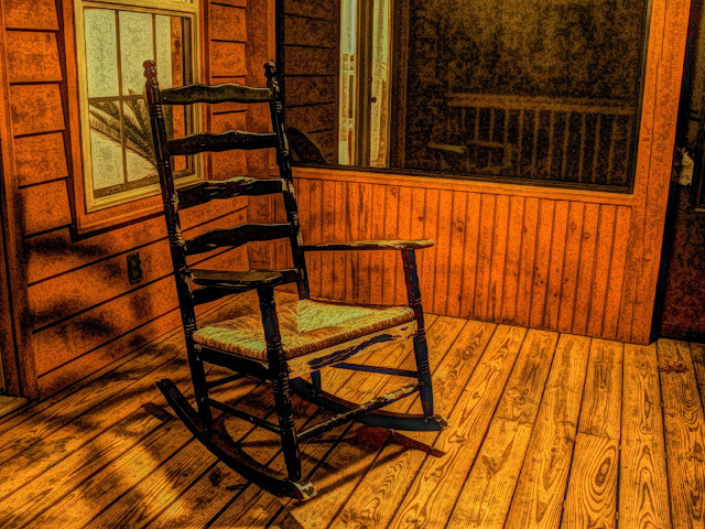 Free picture of a rocking chair.