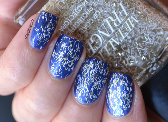 Avon Metallic Fringe Top Coat Fringed and Frayed Review Swatch