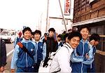 Boys' group during the Marathon Walk.