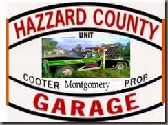 hazzard garage sign