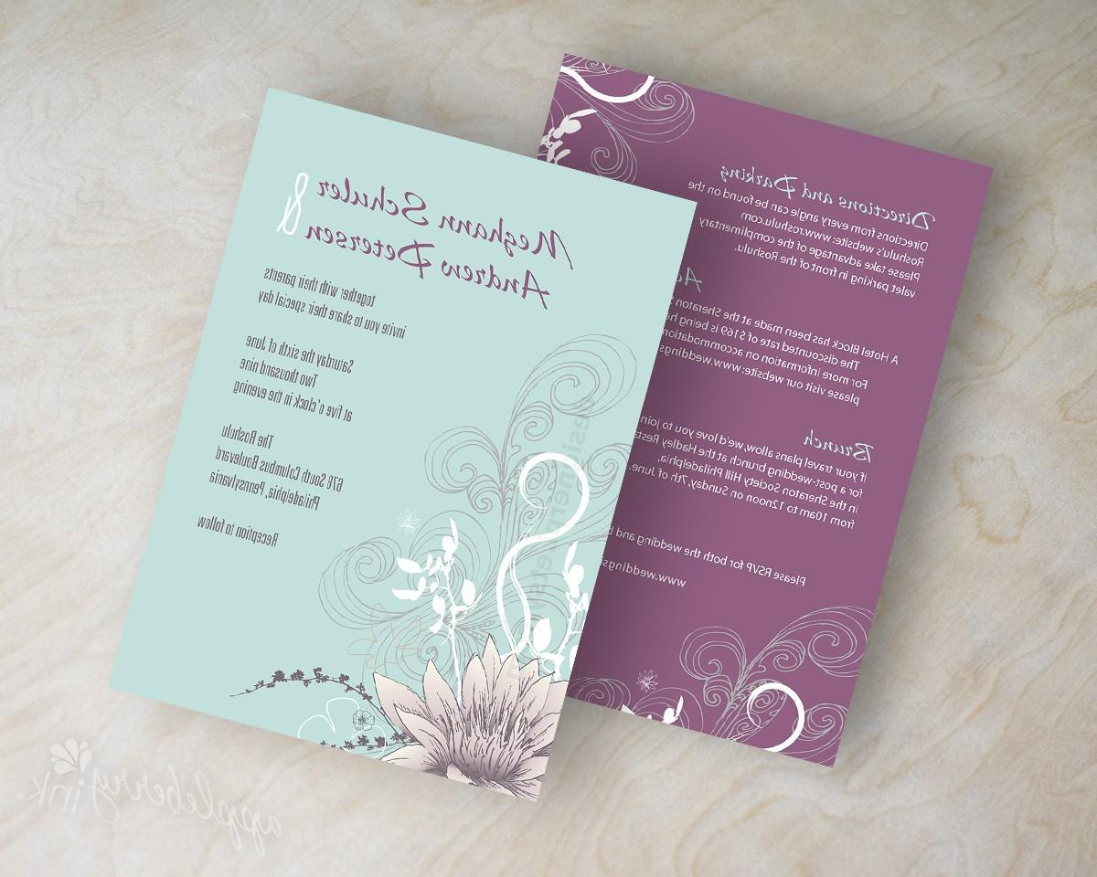 Wedding invitations, lotus