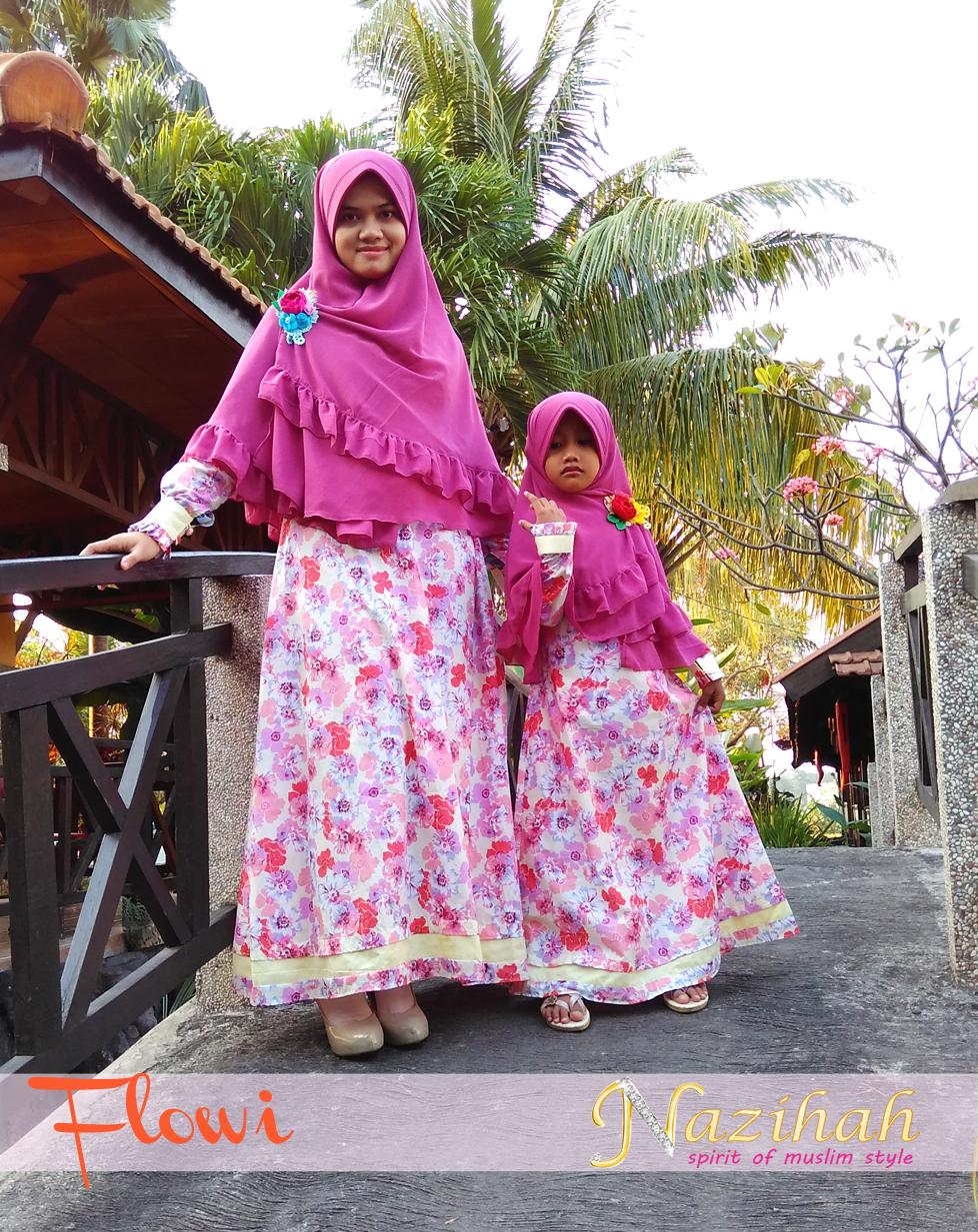 Flowi Katun Jepang Pink Gamis Halus