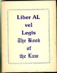 Cover of Aleister Crowley's Book Liber AL vel Legis Scans