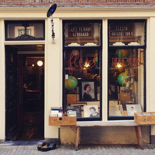Vintage record store in Amsterdam