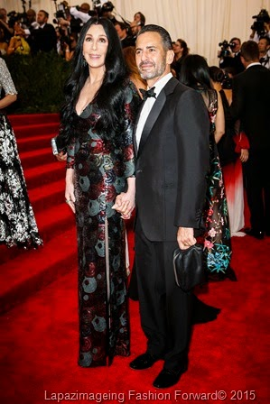 Cher in Marc Jacobs with Designer Marc Jacobs