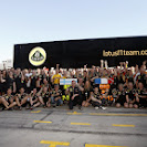Lotus F1 Team celebrating both drivers on the podium