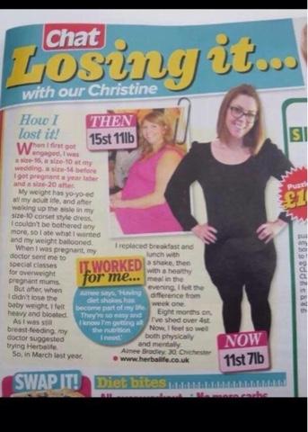 Weight loss aimee bradley HERBALIFE