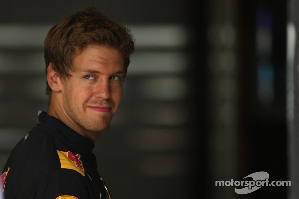 улыбчивый Себастьян Феттель на Гран-при Канады 2011