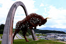 the Red Bull sculpture of the Red Bull Ring