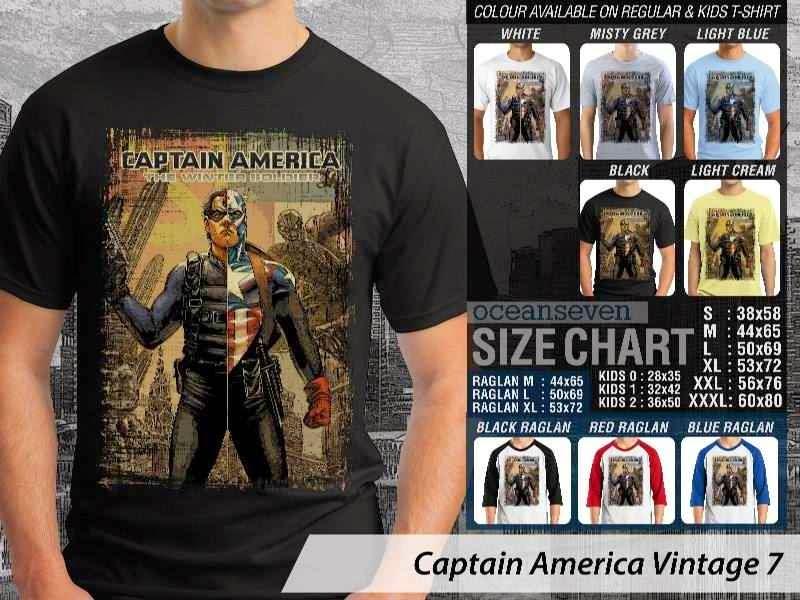 KAOS Captain America 7 Vintage distro ocean seven