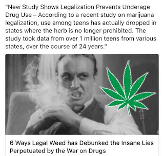 Having laws in place to punish people for using a substance that isn't any worse and can be argued as being even less dangerous than other perfectly legal substances is an affront to both sensible logic and individual liberty. There's literally no excuse for any American who professes to love freedom to be against marijuana legalization, other than the misguided belief in dogma and propaganda statements proven false over and over by real peer-reviewed science.