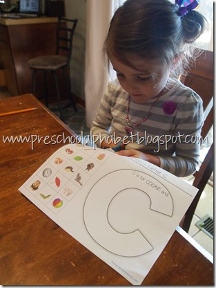 Preschool Alphabet: C is for Cookies