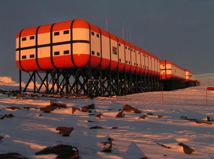 Estação na Antártida