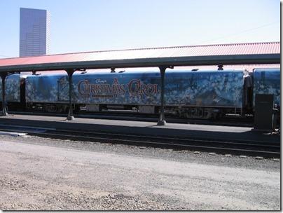 IMG_7657 Christmas Carol Train Car MRLX #800863 at Union Station in Portland, Oregon on July 1, 2009