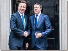 David Cameron e Matteo Renzi
